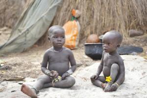 Mursi Tribe Children