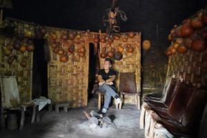 Interior of Dorze Tribe Hut