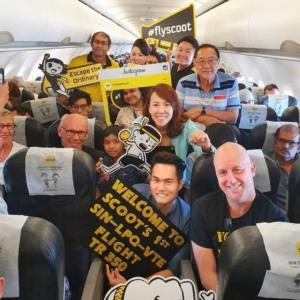 Scoot Inaugural Flight To Laos