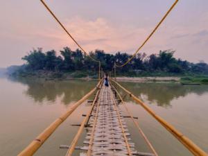 Bamboo Bridge, Luang Prabang Mekong River