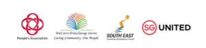 People's Association, Geylang Serai Community Club, South East Community Development Council & SG United Logo